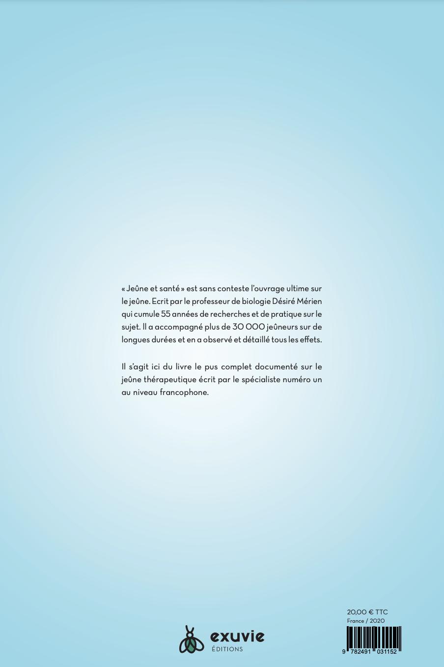 Arrière du livre : Jeûne et Santé