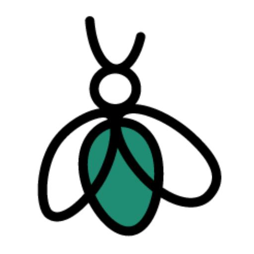 Le logo de la maison d'édition : un exuvie