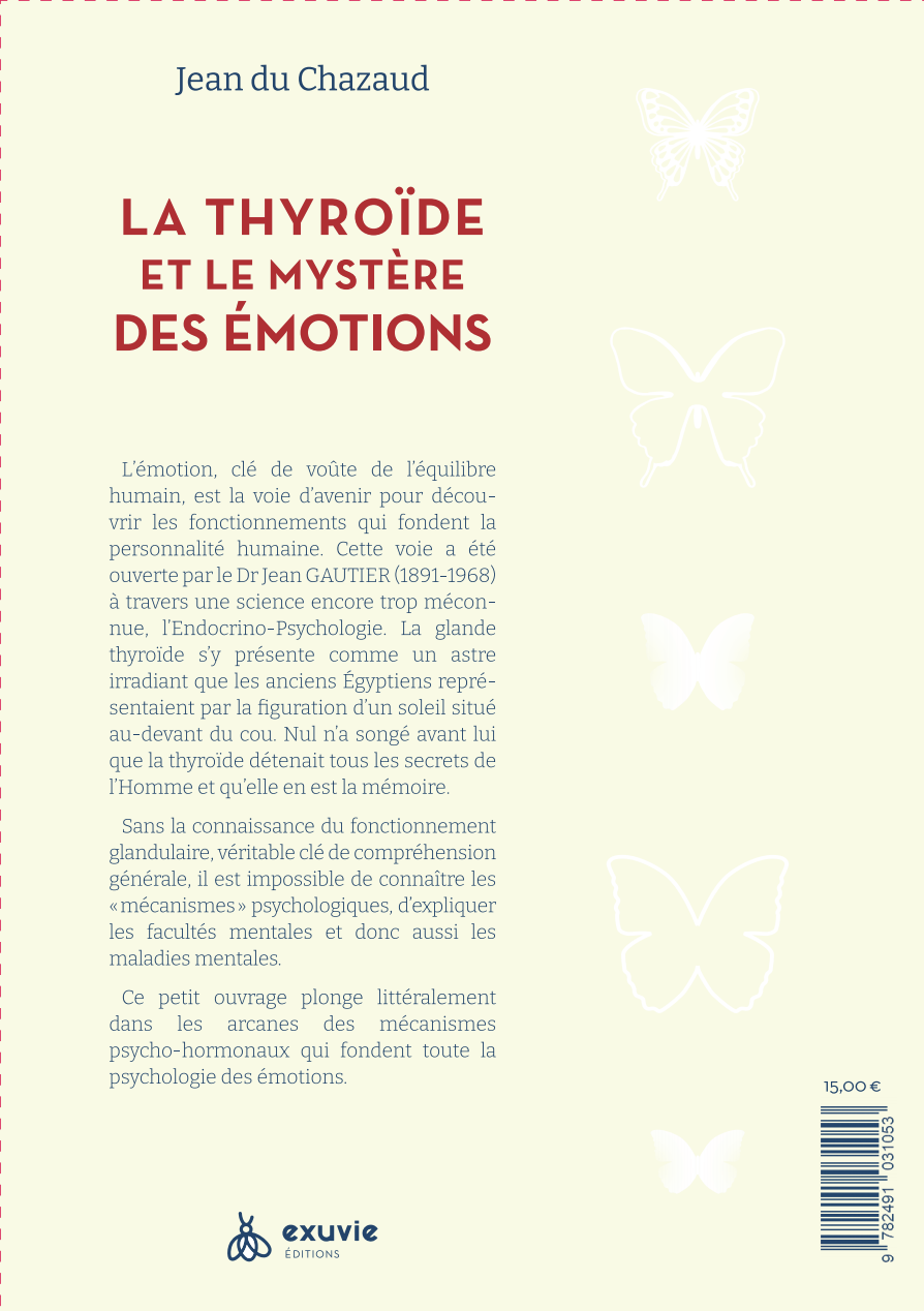 Arrière du livre : La thyroïde et le mystère des émotions