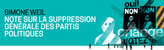 Note Sur La Suppression Générale Des Partis Politiques Simone Weil