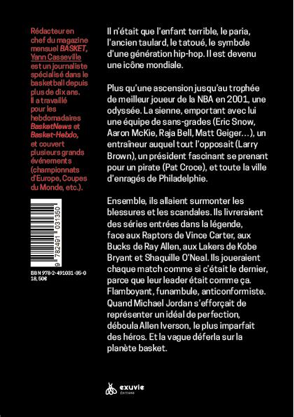 Arrière du livre : 2001, L'Odyssée d'Allen Iverson