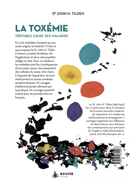 Arrière du livre : La toxémie : véritable cause de la maladie